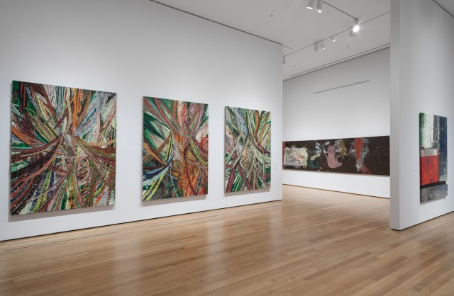 Installation view of 'The Forever Now: Contemporary Painting in an Atemporal World' at the Museum of Modern Art (photo by John Wronn, © 2014 The Museum of Modern Art)