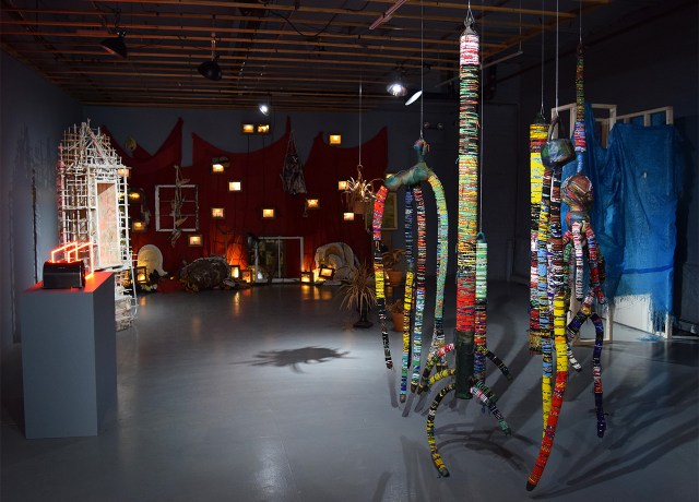 Installation view of 'New American Sculpture' at FiveMyles