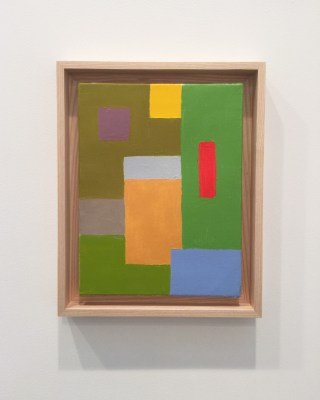 """Etel Adnan, """"Untitled"""" (2015), oil on canvas, 13.75 x 10.6 inches"""