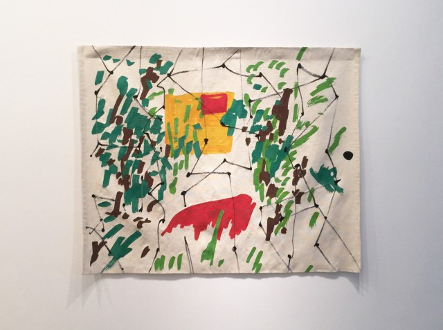 "Etel Adnan, ""Acrobaties Printanières [Springtime Acrobatics]"" (1967-70/2015), Tapestry, 63 x 78.75 inches"