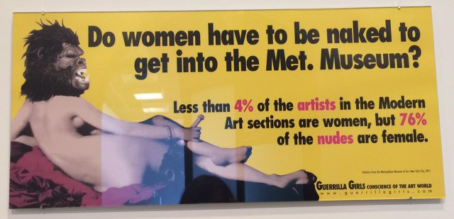 An untitled Guerrilla Girls poster from 2011 (all photos by the author for Hyperallergic)