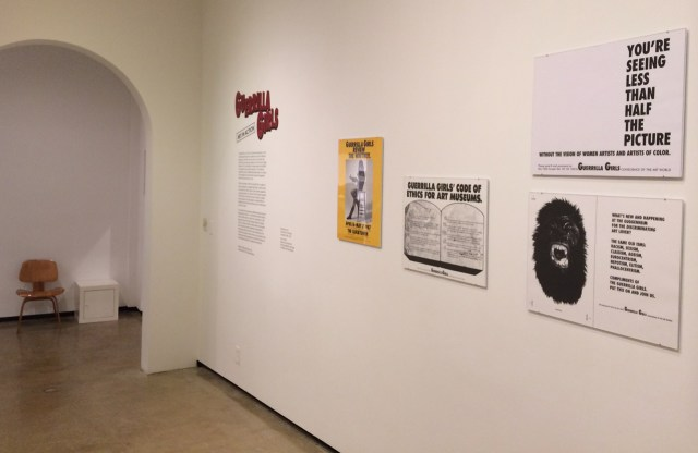 Installation view, 'Guerrilla Girls: Art in Action'