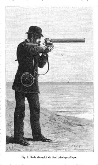Using the photographic gun by Étienne-Jules Marey (1882) (via Nature)