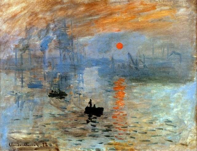 "Claude Monet, ""Impression, soleil levant (sunrise)"" (1872) (via Wikimedia)"