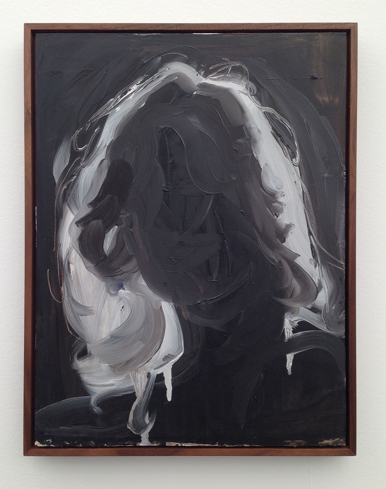"Anna Bjerger, ""Halo"" (2015), oil on aluminum, 50 x 40 cm at Galleri Magnus Karlsson"