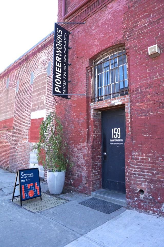 The entrance to 1:54 art fair