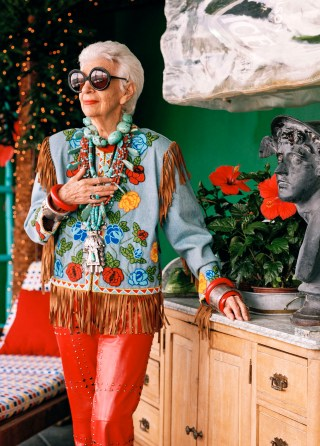 Iris Apfel in 'Iris,' a Magnolia Pictures release (photo © Bruce Weber) (click to enlarge)
