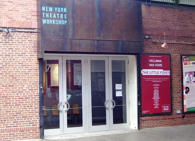 "Entrance to the New York Theater Workshop, the new venue for ""Playwrights for a Cause."" ""NYTW entrance"" (Photo via Wikimedia)"