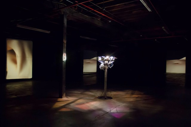 """Installation view of """"Running in Eight Directions"""" (2013–2015), install view (all images courtesy the artist)"""