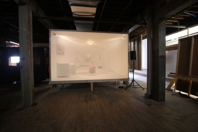 Installation view, Chris Larson's 'Wise Blood' installation at the Soap Factory