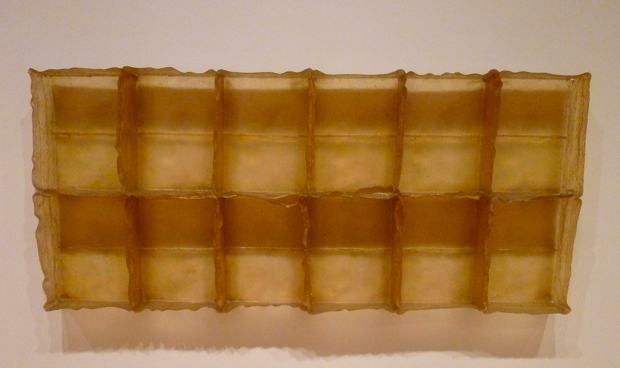 "Eva Hesse, ""Sans II"" (1968) at the San Francisco Museum of Modern Art (photo by the author for Hyperallergic)"