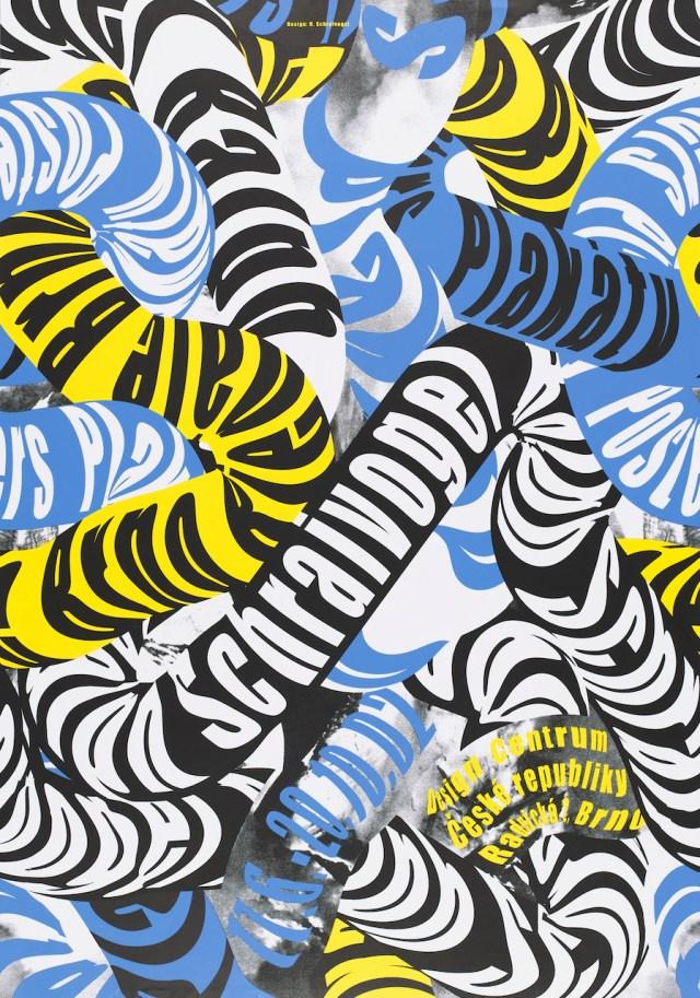 "Ralph Schraivogel, ""Design Centrum Ceské Republiky (Design Center Czech Republic)"" (2002), screenprint, 33 5/16 ◊ 23 5/8 in. (Photo by Matt Flynn, courtesy Cooper-Hewitt National Design Museum, Smithsonian Institution)"