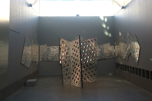 Sanaz Mazinani's Threshold, currently on view at the Asian Art Museum. All images by the author.
