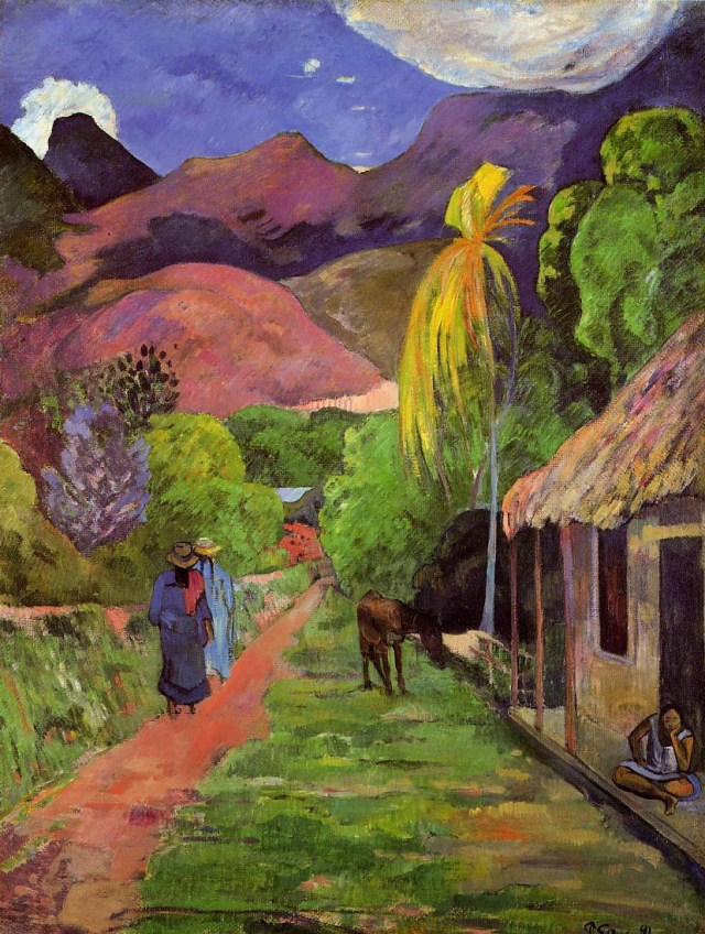 """Paul Gauguin's """"Street in Tahiti"""" (1891) was the subject of a restitution lawsuit between the Toledo Museum of Art and the heirs of Martha Nathan. (photo via Wikipedia)"""