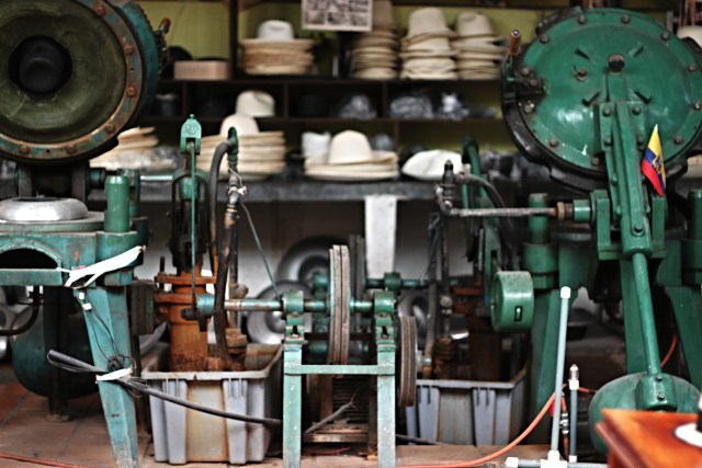These machines are used to give the hats their shape.