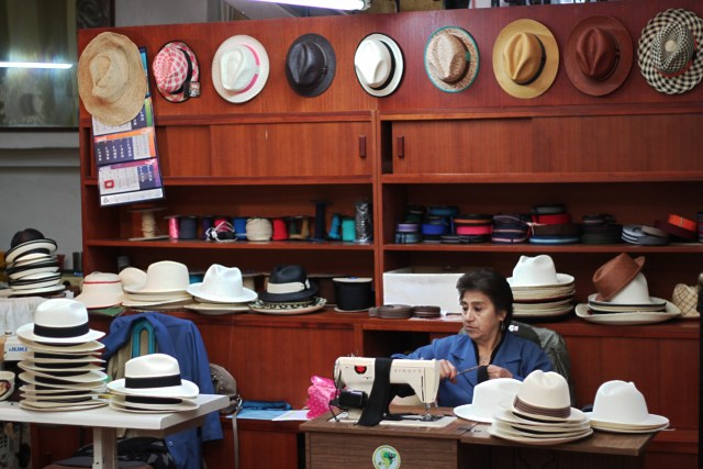 The final details are added to the hats in Cuenca's factories.