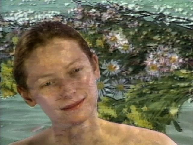 """Joan Jonas, still from """"Volcano Saga"""" (1989), 28 min, color, sound"""