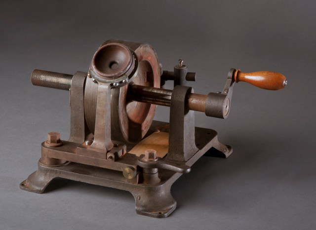 "Graphophone recorded in October of 1881. Content: ""There are more things in heaven and earth, Horatio, than are dreamt of in our philosophy. I am a graphophone and my mother was a phonograph."" Voice of Alexander Melville Bell, Alexander Graham Bell's father"""