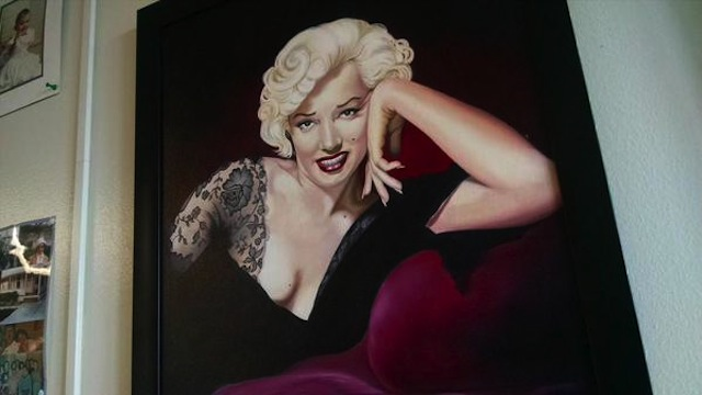 A drawing of Marilyn Monroe by prison escapee Richard Matt (Image via Twitter)