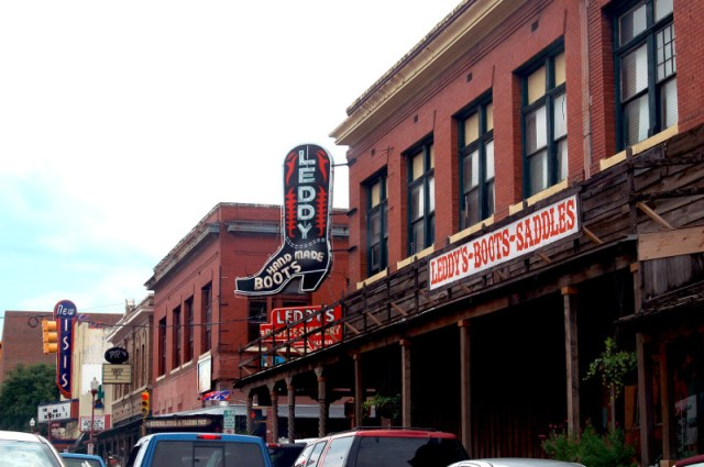 Fort Worth Stockyards in Fort Worth, Texas (photo by John Roberts)
