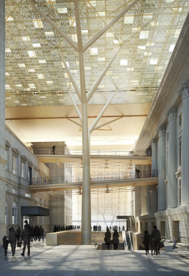 Rendering of National Gallery Singapore's atrium (© studioMilou Singapore 2013 / National Gallery Singapore)