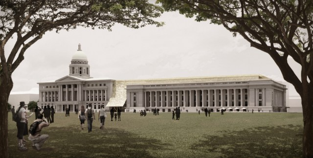 Rendering of National Gallery Singapore (courtesy National Gallery Singapore, via Flickr)