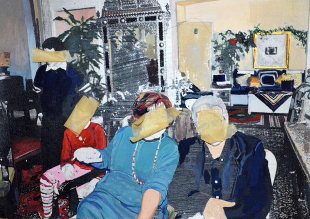 """Mounira Al Solh, detail of """"À la santé des alliés"""" (2015)"""