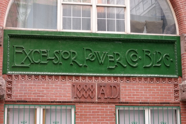 Architectural typography in New York City