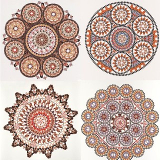 "Similar works from Maheux's ""Sacred Circle"" series (photo via @rosaliehmaheux/Instagram)"
