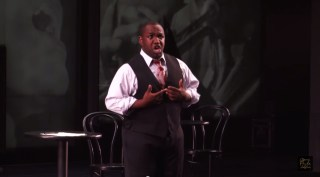 Lawrence Brownlee in an Opera Philadelphia production of Charlie Parker's 'Yardbird' (screenshot via YouTube) (click to enlarge)