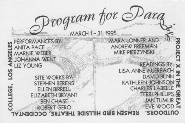 Program for Paradise (via x-traonline.org)