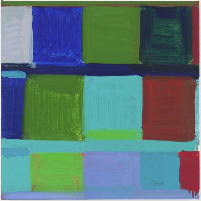 """Stanley Whitney, """"The Blue"""" (2012) (all images courtesy the Studio Museum in Harlem)"""
