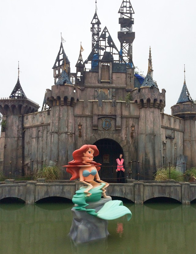 A glitchy Ariel is one of the Banksy works that will greet crowds to Dismaland (all images courtesy Christopher Jobson of Colossal, and used with permission)
