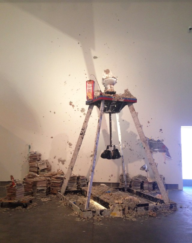 Installation view of William Pope.L's installation in 'Radical Presence' at Yerba Buena Center for the Arts (photo by the author for Hyperallergic) (click to enlarge)