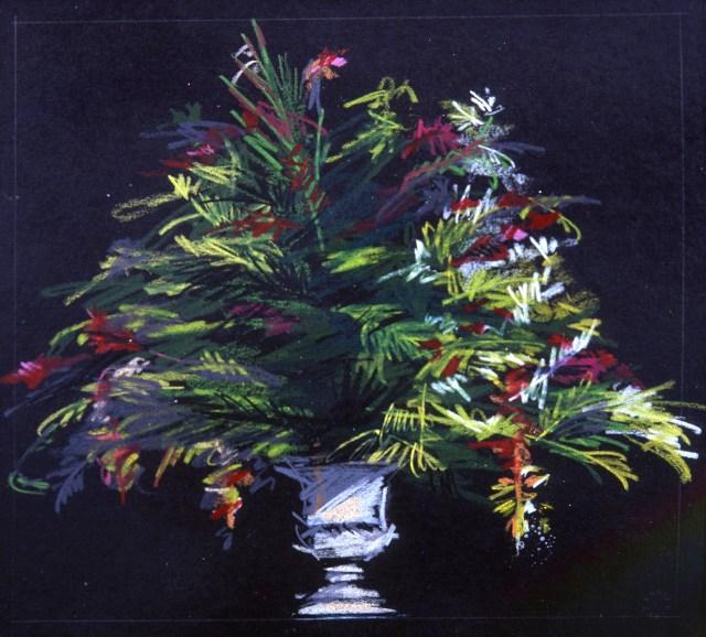 """Abbie Zabar. June 23 2002. Collection of Carla LaGrassa.jpg 6.23.02; 7 5/8"""" x 7 3/16""""; collection of Carla LaGrassa; pencil on black board"""