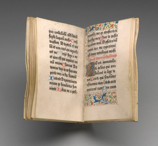 'Book of Hours for Salisbury Use' (about 1475), Bruges: (Colard Mansion for?), William Caxton (courtesy the Morgan Library & Museum)