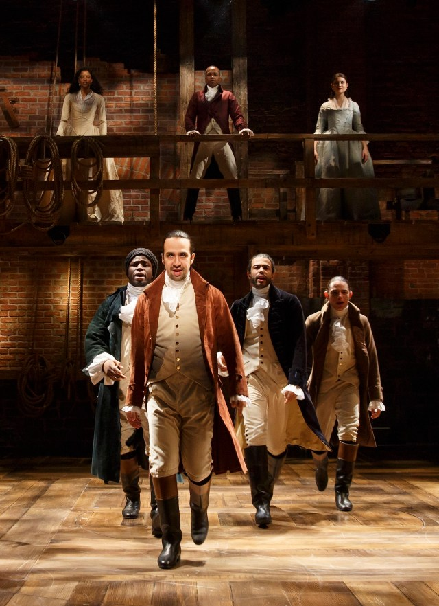 'Hamilton' on Broadway (photo by Joan Marcus)