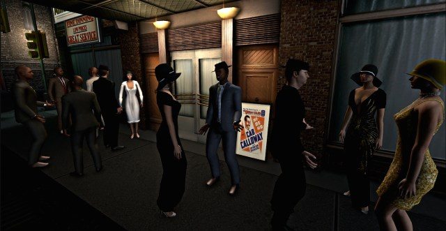 Outside the Cotton Club in 'Virtual Harlem'