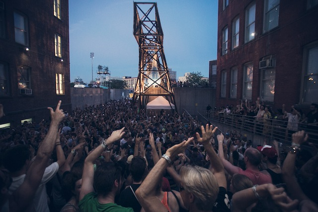 "PS1 draws thousands to its annual ""Warm Up"" raves (image courtesy Charles Roussel of PS1)"