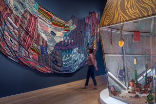 Installation view, 'Amir H. Fallah: The Caretaker' at the Nerman Museum of Contemporary Art (click to enlarge)