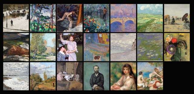 Screenshot from an in-gallery Art Tracks pilot, showing art that can be explored (courtesy Carnegie Museum of Art)
