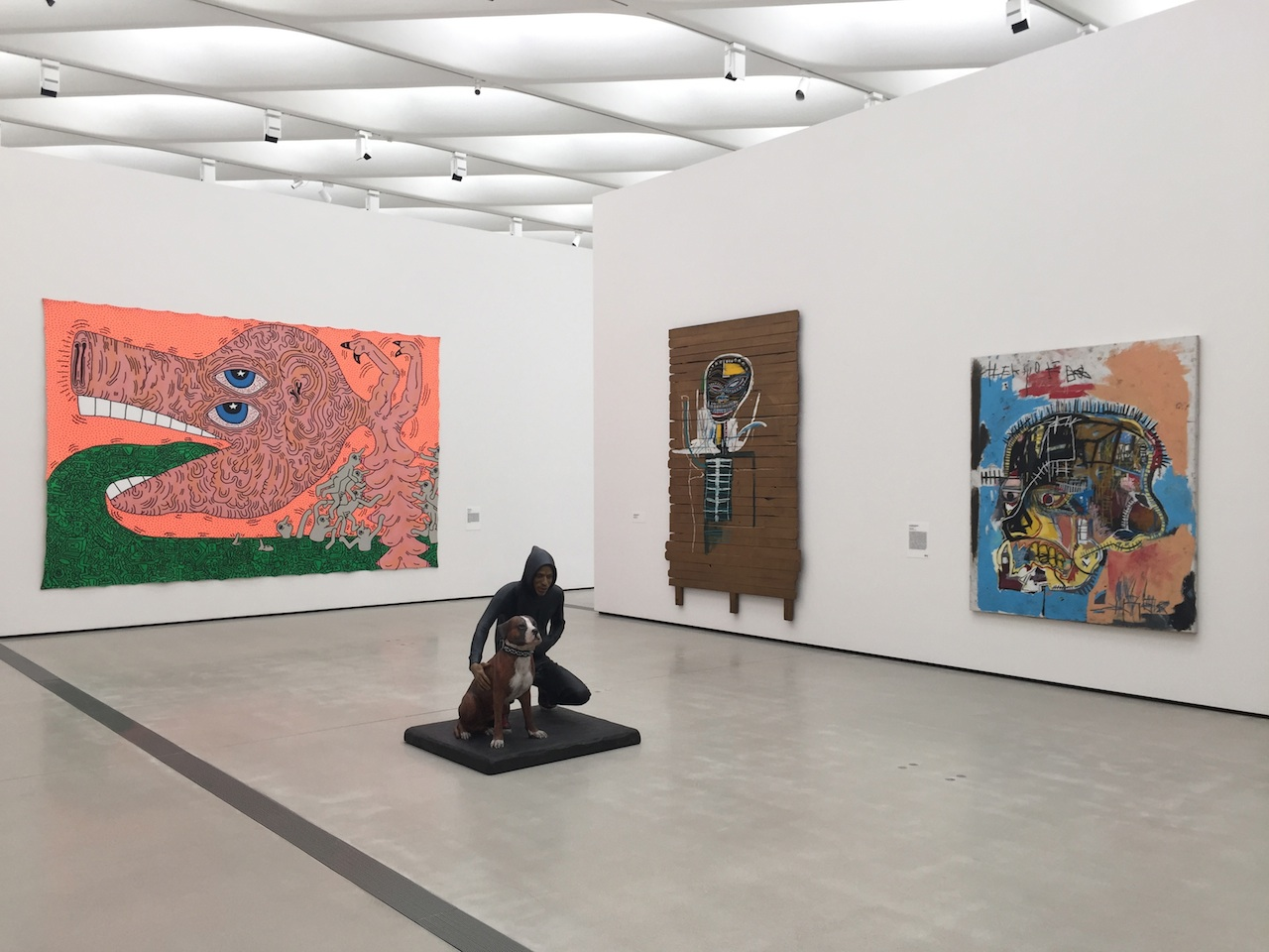 Works by Keith Haring, John Ahearn, and Jean-Michel Basquiat.