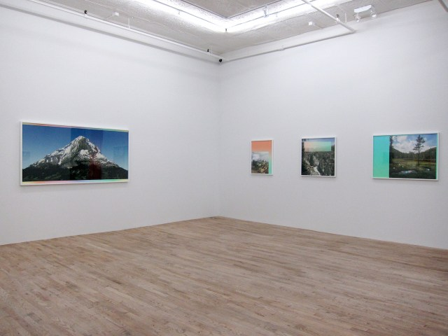 """Installation view of """"Emergence"""" at Postmasters (photo by the author for Hyperallergic)"""