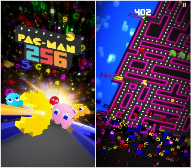 Pac-Man 256 (screenshots by the author for Hyperallergic)