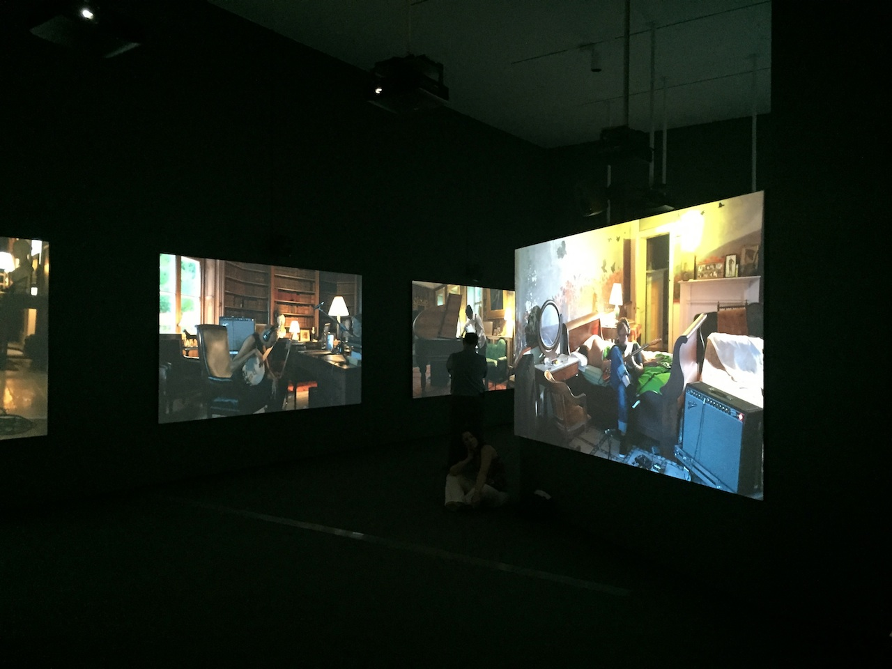 "Ragnar Kjartansson, ""The Visitors"" (2012), nine channel HD video projection"
