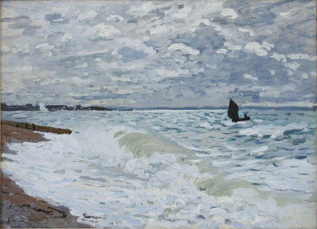 "Claude Monet, ""The Sea at Le Havre"" (1868), oil on canvas (via Carnegie Museum of Art/Wikimedia)"