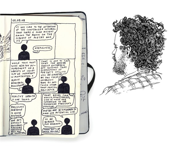A page from Anders Nilsen's 'Poetry is Useless' (all images courtesy Drawn & Quarterly) (click to enlarge)