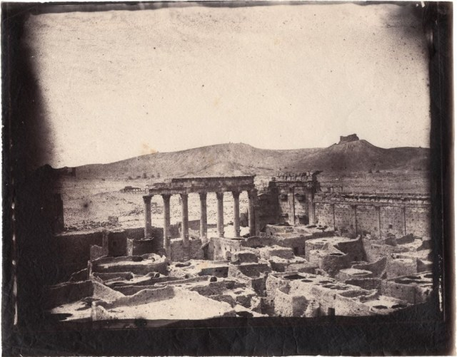 Temple of Bel complex, Palmyra, Syria, albumen print, 1864 (negative by Louis Vignes, photograph printed by Charles Nègre)