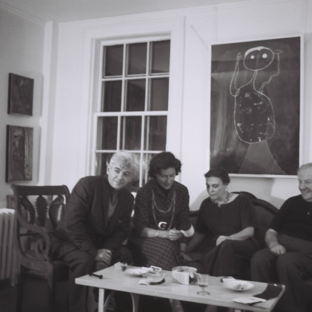 Giorgio Cavallon, Vita Peterson, Linda Lindeberg and Hans Hofmann in the Hofmann home.