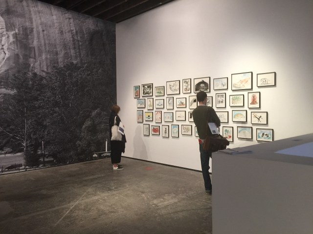Installation view of upstairs gallery at Victoria Miro